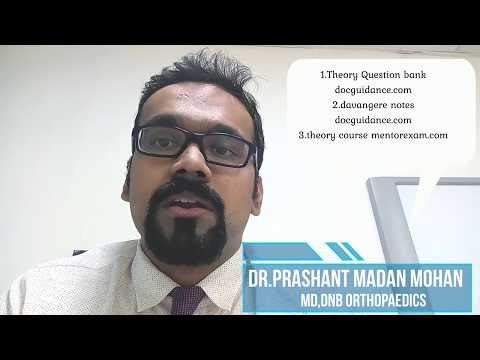 How to prepare for DNB MS Orthopaedics theory exam - Dr Leander Dr Prashant Madan Mohan
