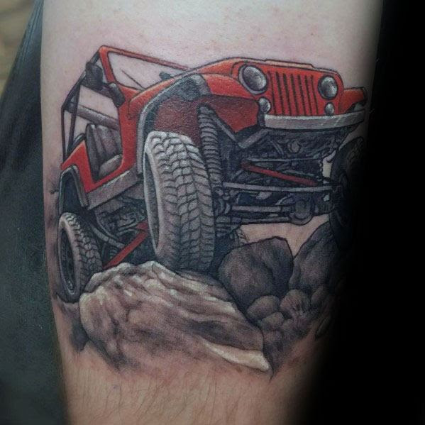 Mens Designs Jeep Tattoo