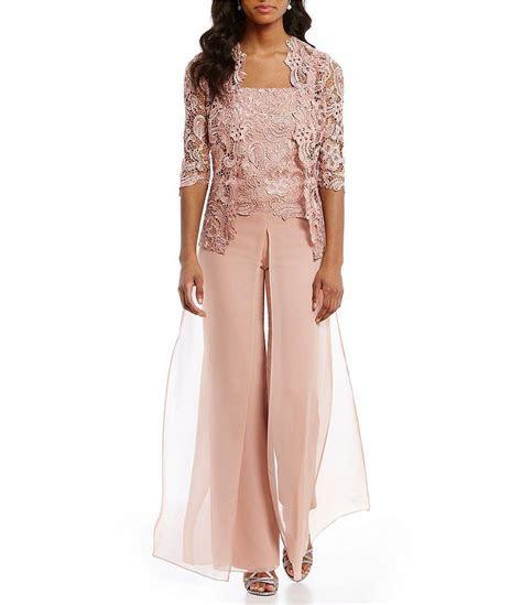 Emma Street Lace Chiffon Pant Set   Mother of the bride