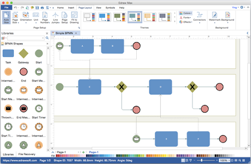 Diagram solutions as we all know visio can not work on mac many people are searching for bpmn diagram visio alternative for mac as an excellent bpmn diagram creator ccuart Image collections