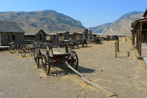 Cody Old trail town - cart