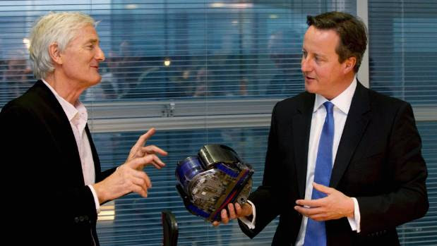 James Dyson, pictured here with British Prime Minister David Cameron (right), was among the vocal Brexit backers.
