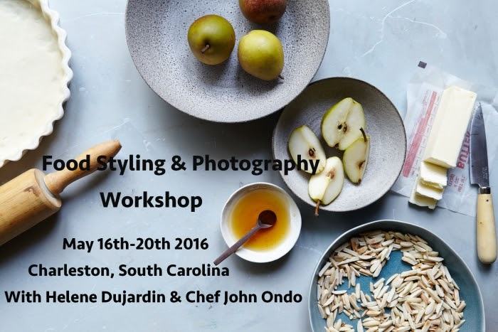 Food Styling, Photography & Cooking Workshop In Charleston SC, May 16th-20th 2016