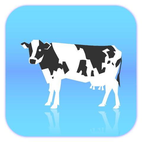 乳牛イラスト素材01 Kmsys丑年賀状イラスト素材集