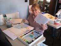 Joanne Asay from magana Utah in roland Lee watercolor workshop