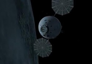 Artist's conception of the Orion spacecraft in orbit. Image Credit: NASA