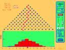 Screenshot of the simulation Plinko Probability