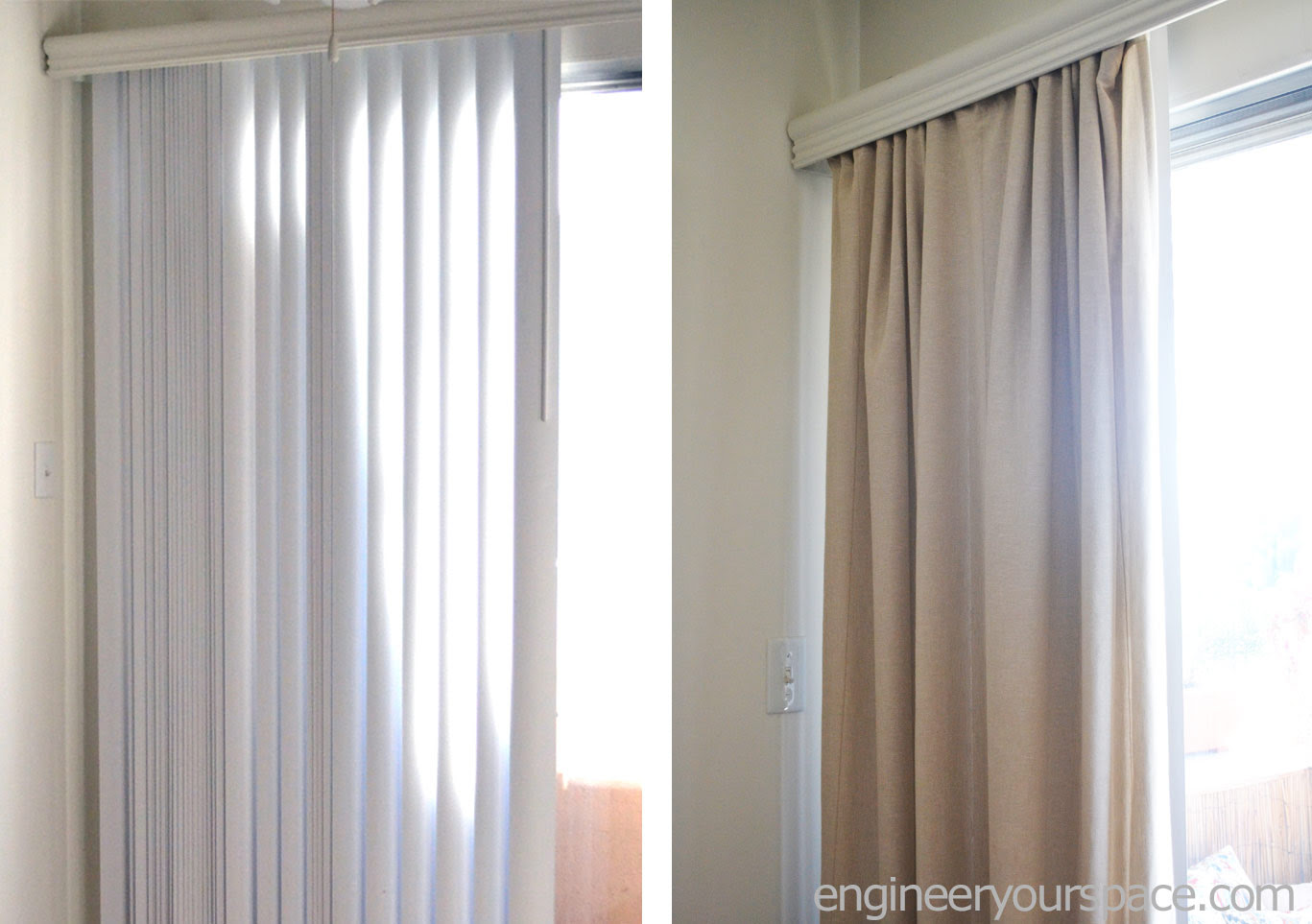 How To Conceal Vertical Blinds With Curtains Smart Diy Solutions