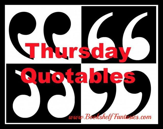 Thursday Quotables