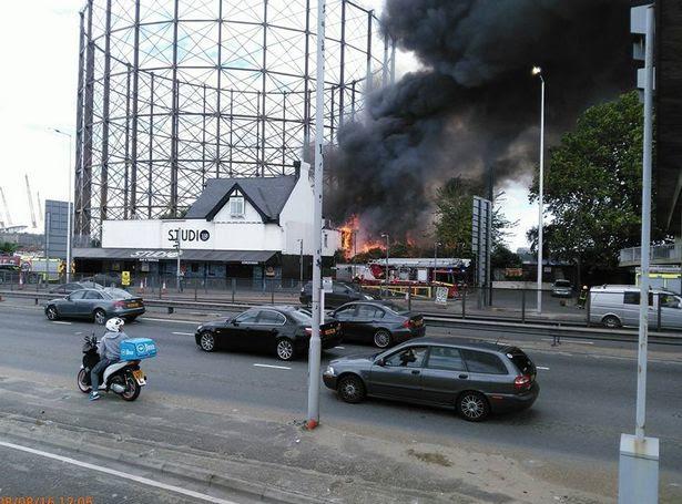 Famous nightclub Studio 338 bursts into flames