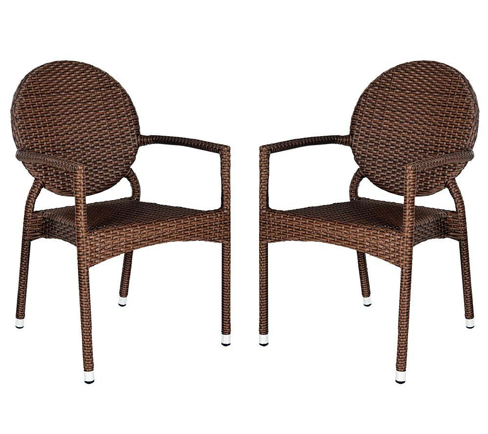 Safavieh Valdez Set of 2 Indoor/Outdoor Arm Chairs — QVC.com