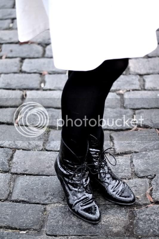 schwarze kroko lack leder stiefeletten vintage