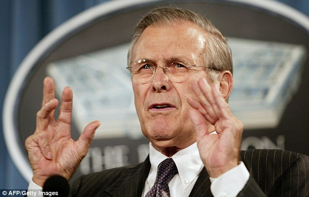 Image result for rumsfeld making rocks roll