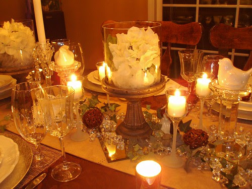 How About Hosting The Bridal Shower Dinner In Evening And Adding Lots Of Candlelight