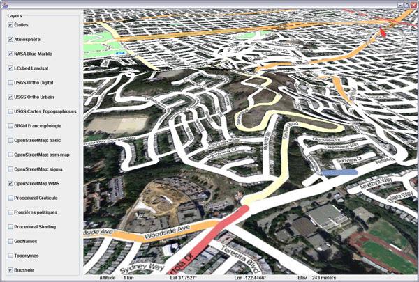 World Wind Java 0.5 - Open Street Map layer