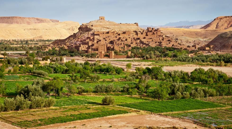 Ouarzazate al sur de la cordillera del Atlas, en Marruecos.