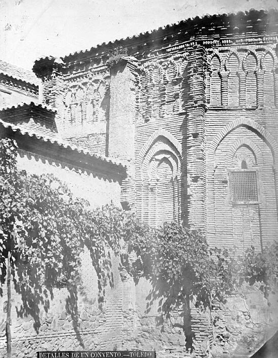 Ábside del Convento de Santa Fe en el siglo XIX. Foto de Casiano Alguacil. Ayuntamiento de Toledo