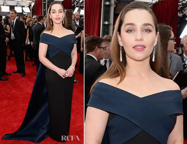 Emilia Clarke In Donna Karan Atelier - 2015 SAG Awards