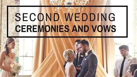 Second Marriage Ceremony   Second Wedding Ideas   Wedding