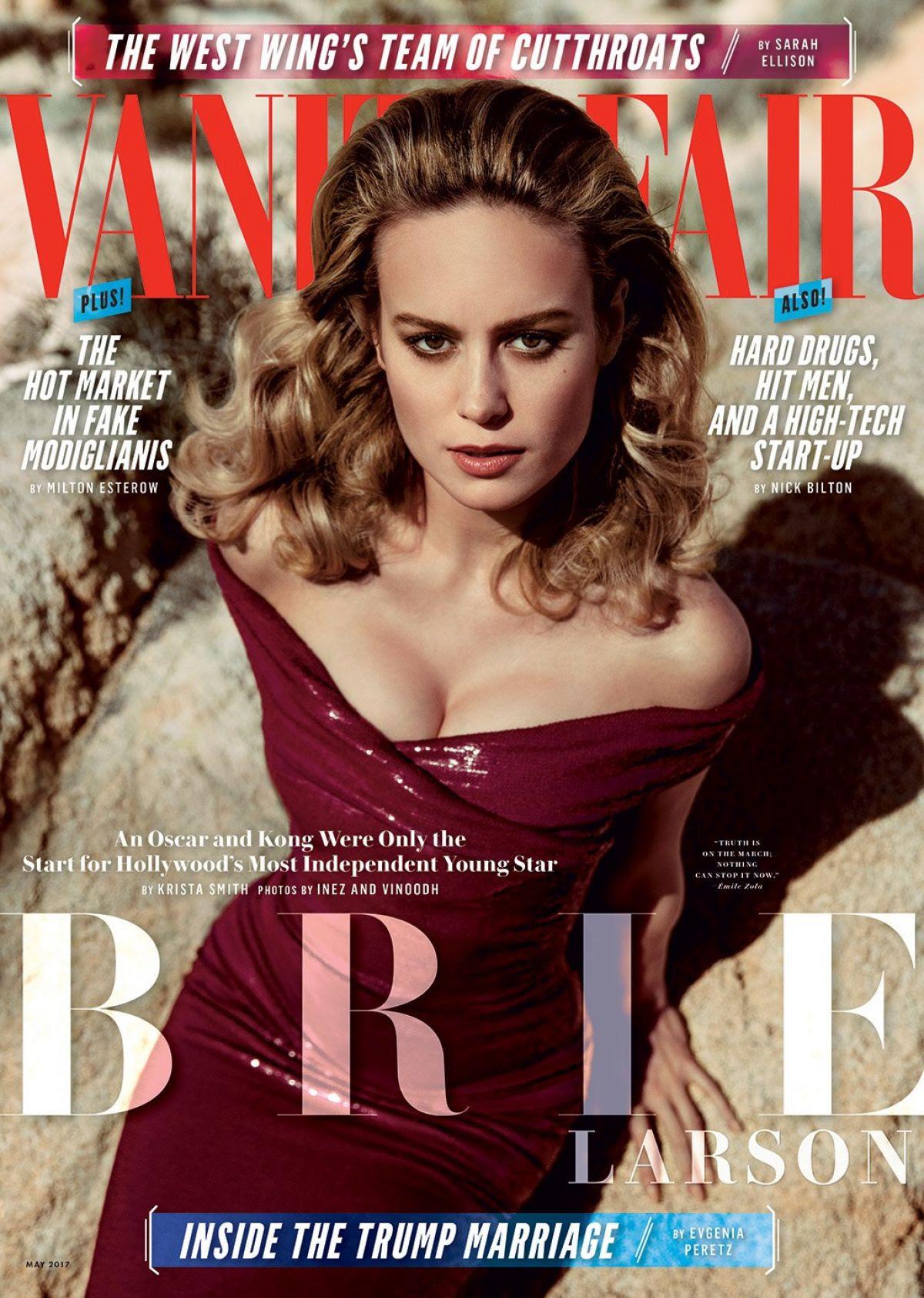 BRIE LARSON in Vanity Fair Magazine, May 2017