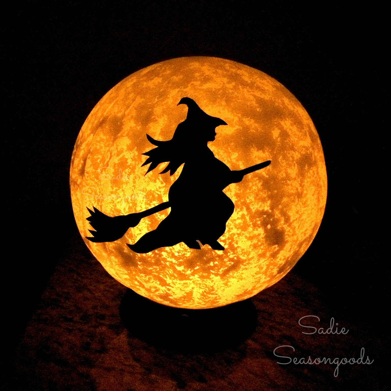 Vintage Light Fixture Halloween Moon - Sadie Seasongoods