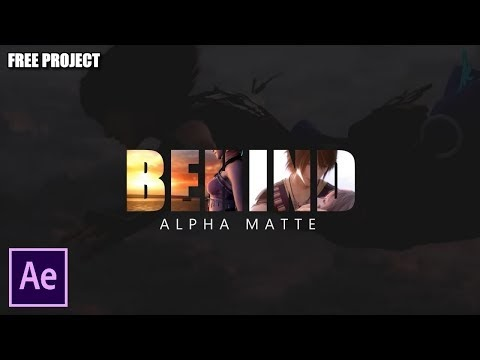After Effects Tutorial: Text Inside Video Alpha Matte (Free Project)