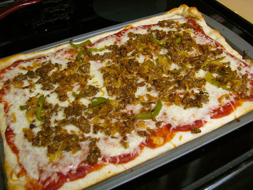 hoagie leftovers made into pizza