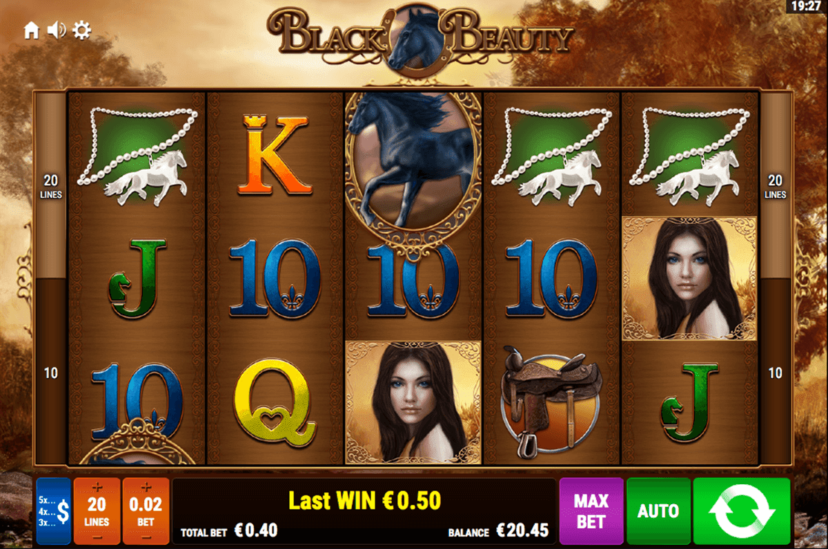 Black Beauty is a horse-riding themed slot with a majestic black stallion as the star of the slot, along with beautiful white horses and an experience rider who will guide you throughout the magical forest.