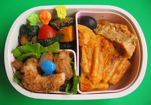Pasta frittata lunch for preschooler