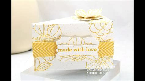 Stampin Up UK Cake Slice Box IMPERIAL Tutorial   YouTube