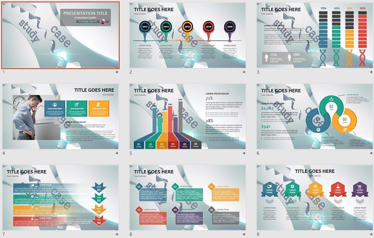 Case Study Powerpoint Template 108816
