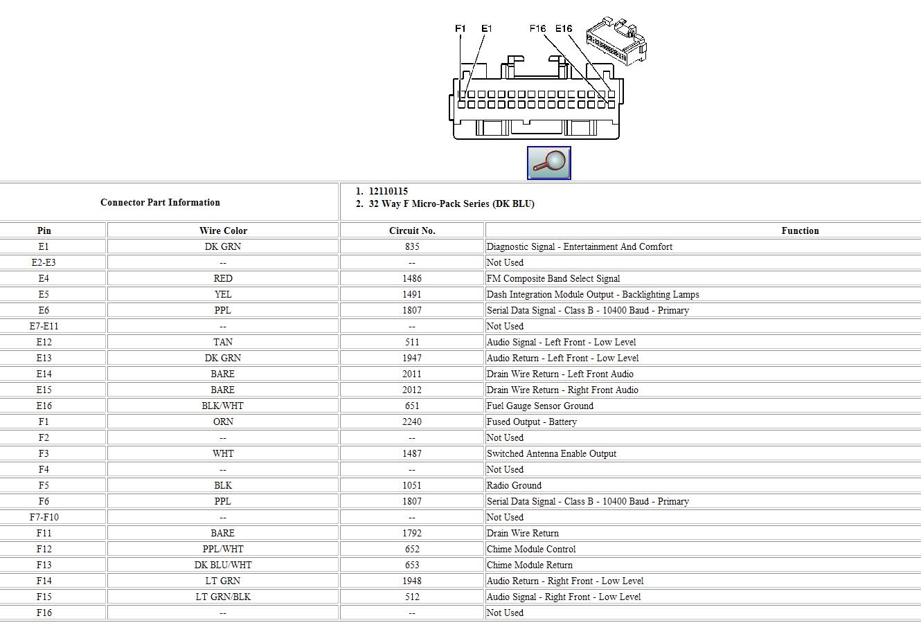Corvette Cd Player Wiring Diagram 2007