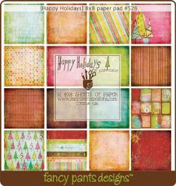 Fancy Pants Happy Holidays 8x8 Paper Pad
