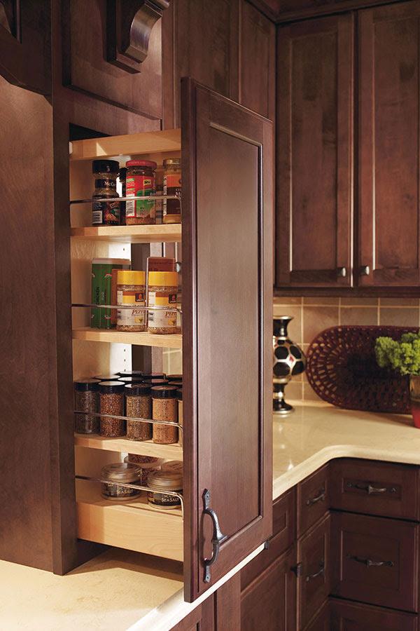 Dark Maple Kitchen Cabinets - Decora Cabinetry