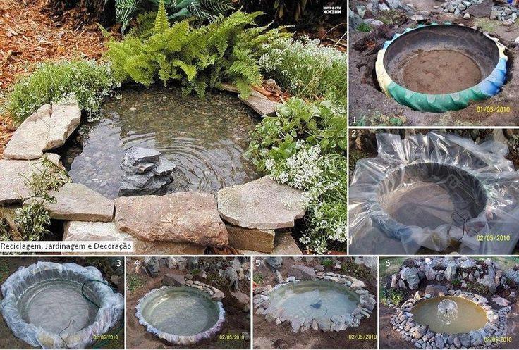 DIY Garden Tractor Tire Pond