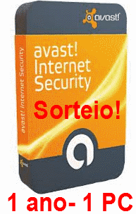 Sorteio licença 01 ano do Avast Internet Security