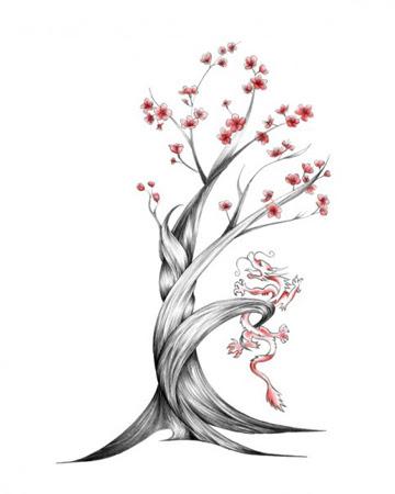 Cherry Blossom Japan Drawing Tattoo Tattoomagz
