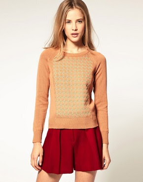 ASOS Premium Padded Jumper With Stitch Detail