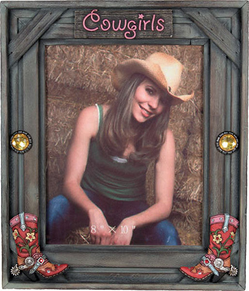 Wooden Western Cowgirls 8x10 Photo Frame 503 Buffalo Trader Online
