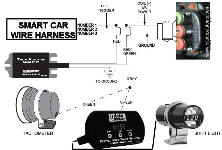 Super Auto Meter Tach Wiring Diagram 2