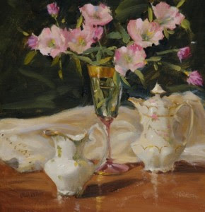 "Judy Crowe - ""China and Primrose"" - 12""x 12"" - Oil"