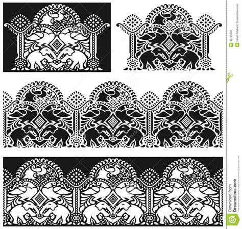 Traditional Indian Border Stock Vector   Image: 40795690