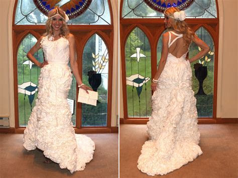 Amazing Wedding Dresses Made From Toilet Paper   BridalGuide
