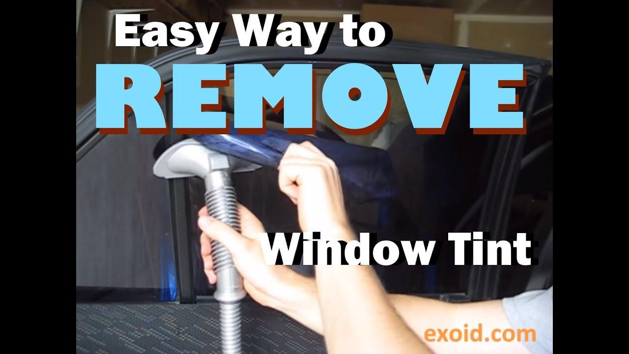 Easy Way to Remove Automotive Window Tint - YouTube