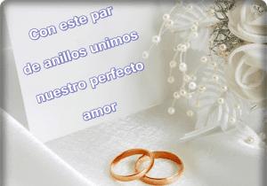 Imagen De Amor De Dos Anillos De Compromiso
