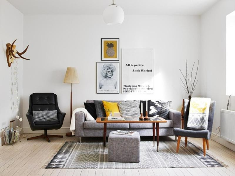 cool scandinavian living room