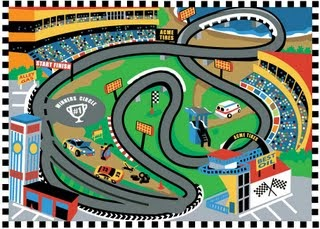 See Wheels On Your Car Before You Buy >> doodle thoughts: Just another Race Track rug