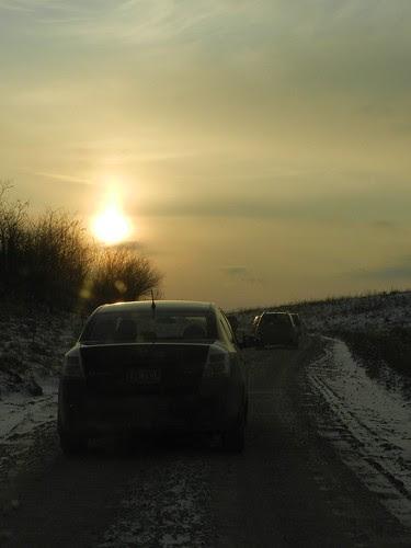 caravan sunset