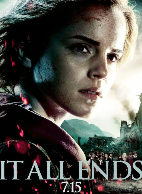 watsonlove:  Deathly Hallows Part II poster featuring Hermione