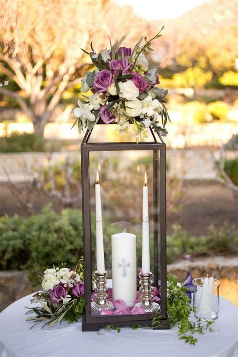 Unity Candles in Glass Lantern   Glass, Weddings and Wedding